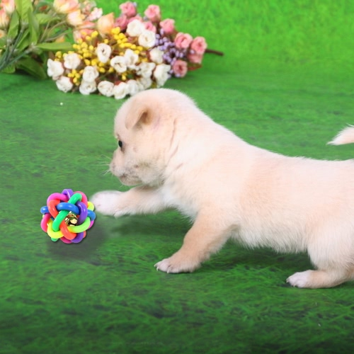 Pet Dog Chew Teeth Toys Colorful Rubber Ring Bell Twist Round Ball Pets ProductsDog Clothing<br>Pet Dog Chew Teeth Toys Colorful Rubber Ring Bell Twist Round Ball Pets Products<br><br>Product weight: 109.0g