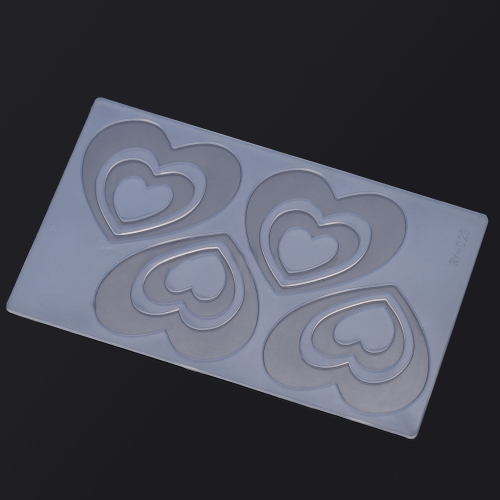 ANSELF MJ-RY-023 Silicon Mold Cake Decoration Chocolate Mould Heart Shape Pattern H15805