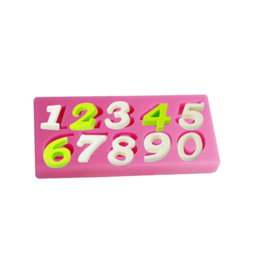 ANSELF MJ-SM-076 Silicone Mold Cake Cupcake Decoration Beautiful Fondant Chocolate Baking Mould Number Mat H15870