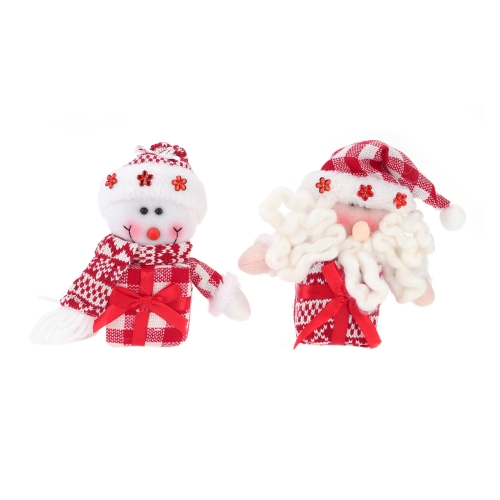 Hot Sale New Style Christmas Snowman Hanging Pieces Christmas Ornament XMAS Tree Decoration 2pcs