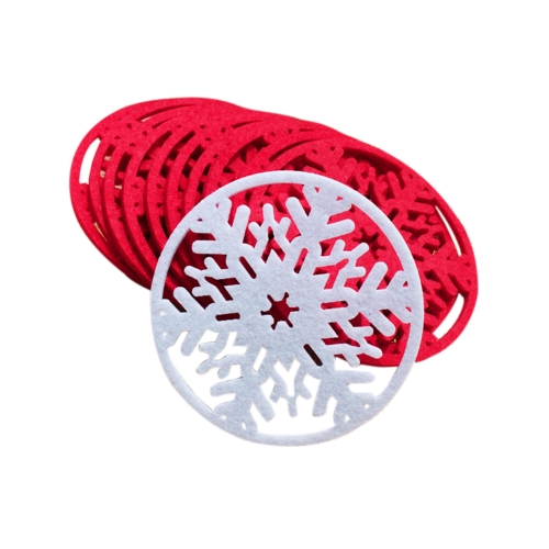 10 PCS Cup Pad Cute Snowflake Insulation Mat Light Weight Heat Pad Adorable Christmas Product H16015