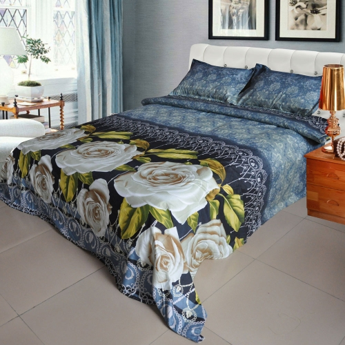 White Rose Pattern 4Pcs 3D Printed Bedding Set Bedclothes Home Textiles King Queen Size Quilt Cover Bed Sheet 2 PillowcasesHome Textile<br>White Rose Pattern 4Pcs 3D Printed Bedding Set Bedclothes Home Textiles King Queen Size Quilt Cover Bed Sheet 2 Pillowcases<br><br>Blade Length: 32.0cm