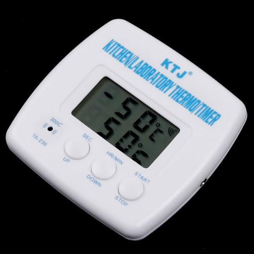 LCD Digital Timer & Thermometer Alarm Cooking Kitchen BBQ Food H8007