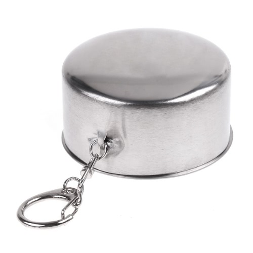 Stainless Steel Portable Mini Travel Retractable Cup Keychain Telescopic