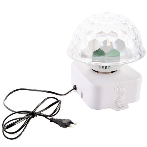 Sound-activate Rotating LED RGB Crystal Magic Ball Effect Light Disco DJ Stage Lighting H9297