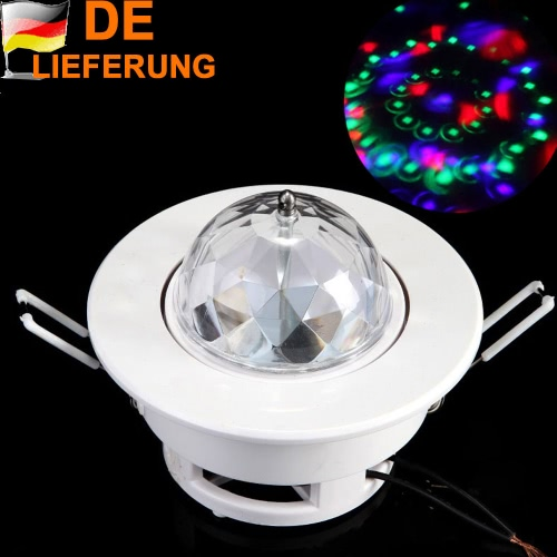 3W Full Color LED Voice-activated Rotating RGB Ceiling Stage Light DJ Disco Lamp H9302