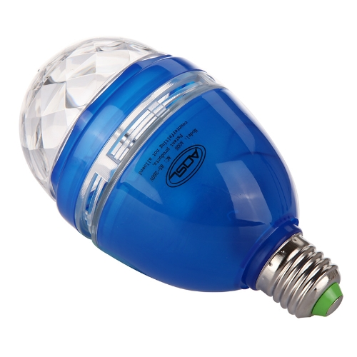 Full Color LED RGB Rotating Lamp with Remote Sound-activated Stage DJ Light Bulb 3W E27 85-260V Blue H9465BL