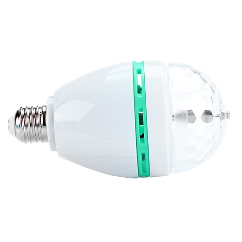 3W E27 Full Color RGB LED Auto Rotating Lamp Crystal Stage DJ Party Light Bulb 85-260V H9602