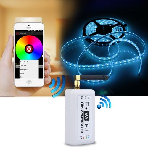 Sans fil contrôleur RVB Wifi bande de la LED pour iOS iPhone Android Smartphone tablette
