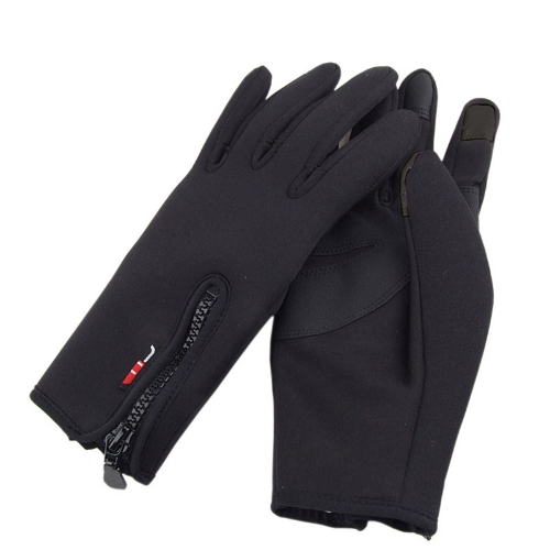 Touch Screen Windproof Warm Gloves Outdoor Cycling Skiing Hiking Unisex Black H9996L