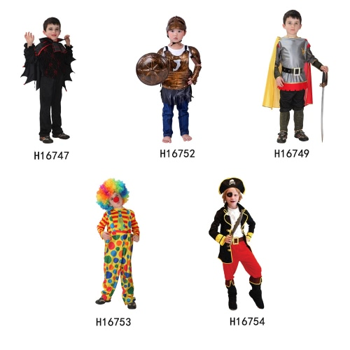 Festnight Halloween Costume Suit Cool Pirate Roleplay Costume Kindergarten Children Fancy Dress Props Carnival Kids' Cosplay Clothes