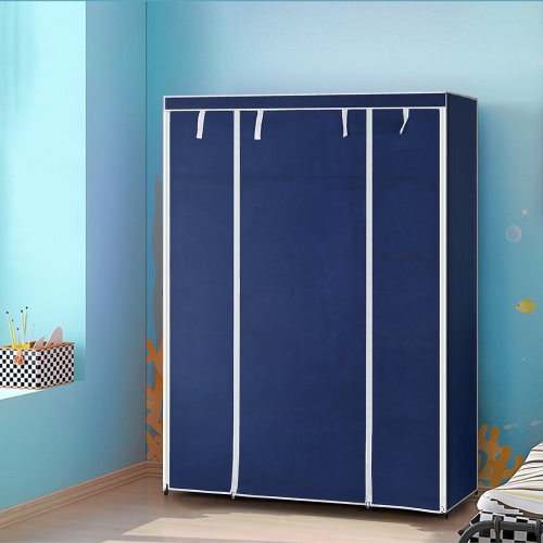 IKAYAA Moderne Portable garde-robe portable pour organiser les vêtements avec partie penderie et étagères