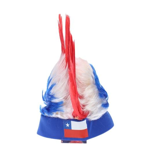 ANSELF Germany Flag Football Soccer Fans Wig Cockscomb European Cup FIFA World Cup Sports Carnival Festival Cosplay Costume H17091CL