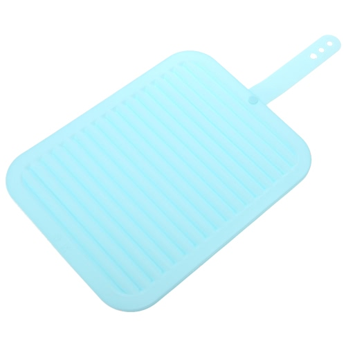 "1PC Big Size 11.6""*8.86"" Multi-functional Silicone Heat Resistant Pad Non-slip Drain Tableware Cookware Mat Drying Mat Kitchen Use"