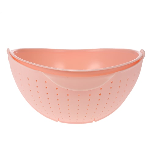 2-in-1 Multi-functional Flip-open Fruit & Vegetable Washing Draining Basket Organizer Colander Storage Holder Kitchen Accessory