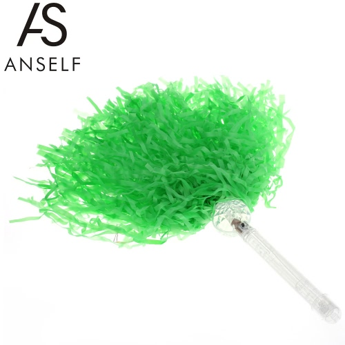 Anself 2016 Euro Cup Sports Fans LED Light Up Pom Pom Cheer Blinking Cheering Lighted Pom-Pom Shaking Cheerleader