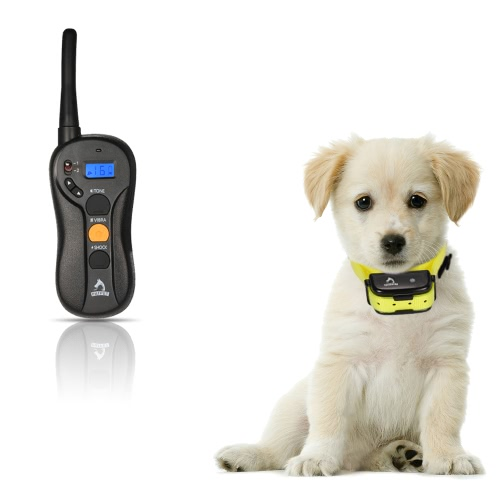 PATPET Rechargeable Remote Dog Training Collar Safe Humane Vibration Shock Effective Anti Bark Collar with 16 Sensitivity Level Practical Pet Training System for 1 Dog