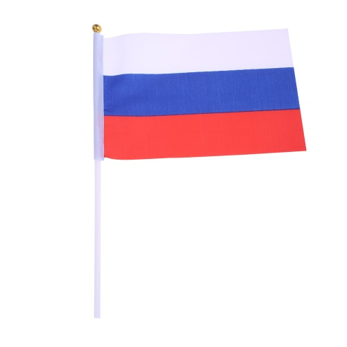 ANSELF 50pcs 2016 European Cup Olympic Games World Handheld Flag with Flagpole Flag for Euro 2016 International Day Sports Events Hand Flag Size 20 * 28cm H17108RU