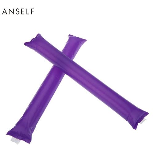 Anself 10pcs 2016 Euro Cup Sports Fans Noisemakers Sticks Cheer Noise Maker Inflatable Bam Bam Thunder Cheer Sticks/Blow Bar/Cheering Stick/Stuffed Club/Cheer Refueling Bar/La-la-la H17130PU