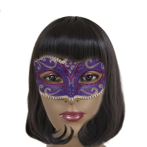 Festnight Luxury Sexy Plastic Half Mask Halloween Masquerade Ball Mask with Glitter Lace DecorationHalloween Supplies<br>Festnight Luxury Sexy Plastic Half Mask Halloween Masquerade Ball Mask with Glitter Lace Decoration<br><br>Blade Length: 20.5cm