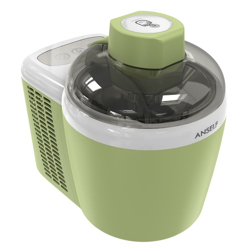 Anself 1pint Household Electric Fruit Ice Cream Machine Intelligent Automatic Ice Cream Maker Green 600ml With Built-in Cooling SystemCooking Tools<br>Anself 1pint Household Electric Fruit Ice Cream Machine Intelligent Automatic Ice Cream Maker Green 600ml With Built-in Cooling System<br><br>Blade Length: 31.3cm