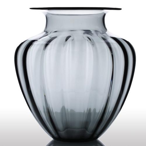 Buy CASAMOTION Modern Hand Blown Large Jar Shaped Glass Vase Ribbed Design Home Art Decoration Floral Arrangements