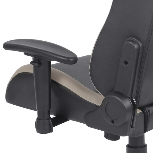 IKAYAA Cool Racing Style Gaming Office Chair Ergonomic Executive Computer Race Chair W/ Recline Height & Armrest Adjustable Tilt Swivel Function H16984FR-GY