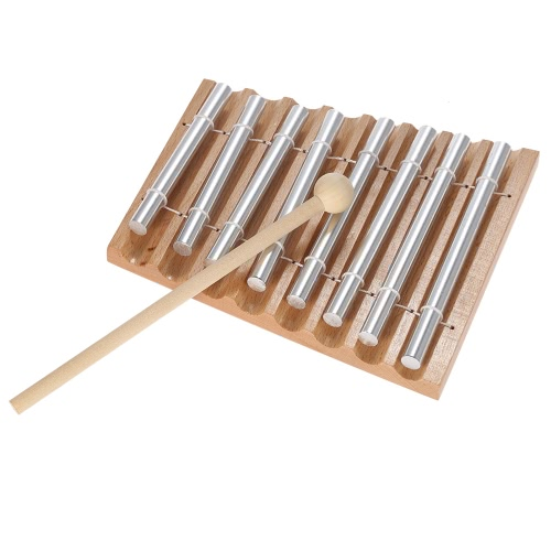 Children Kids Toddler 8-Tone Tabletop Chimes Educational Musical Toy Percussion Instrument with Mallet от Tomtop.com INT