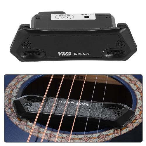 High Quality Active Magnetic Sound Hole Humbucker Pickup Pick-up Dual Coil for Folk Guitar