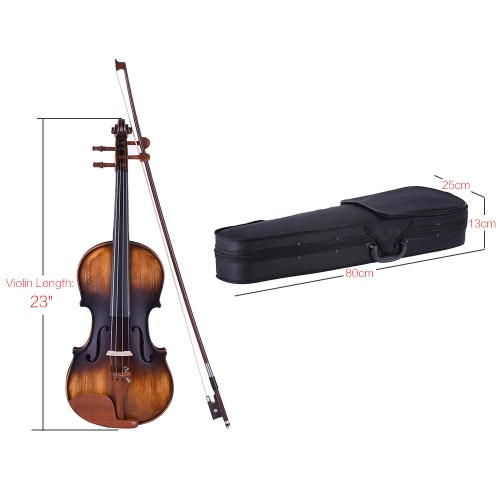 ammoon 4/4 Full Size Violin Matte-Antique Spruce Top Jujube Wood Parts(Peg and Tailpiece) with High Quality Rosin Cleaning Cloth Bridge Violin StringsViolins<br>ammoon 4/4 Full Size Violin Matte-Antique Spruce Top Jujube Wood Parts(Peg and Tailpiece) with High Quality Rosin Cleaning Cloth Bridge Violin Strings<br><br>Blade Length: 80.0cm