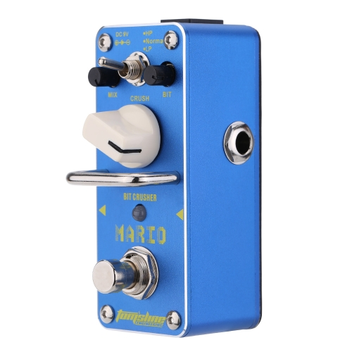 AROMA AMO-3 Mario Bit Crusher Electric Guitar Effect Pedal Mini Single Effect with True Bypass I1552