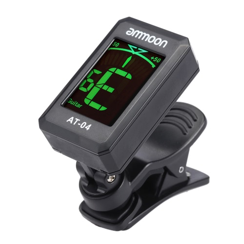 ammoon AT-04 Clip-On Automatic Digital Electronic LCD Tuner for Acoustic Electric Guitar Bass Chromatic Violin Ukulele