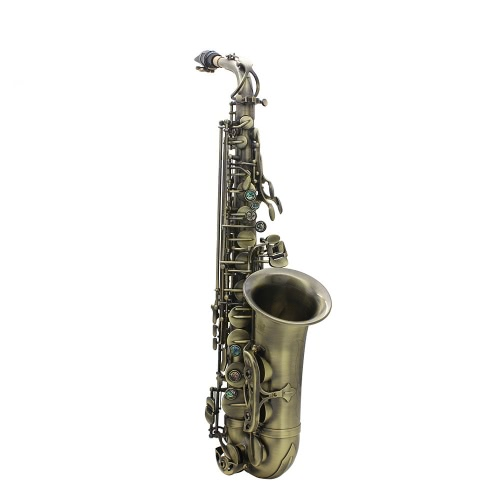 High Grade Antique Finish Bend Eb E-flat Alto Saxophone Sax Abalone Shell Key Carve Pattern with Case Gloves Cleaning Cloth Straps Grease BrushSaxophones &amp; Accessories<br>High Grade Antique Finish Bend Eb E-flat Alto Saxophone Sax Abalone Shell Key Carve Pattern with Case Gloves Cleaning Cloth Straps Grease Brush<br><br>Blade Length: 62.0cm