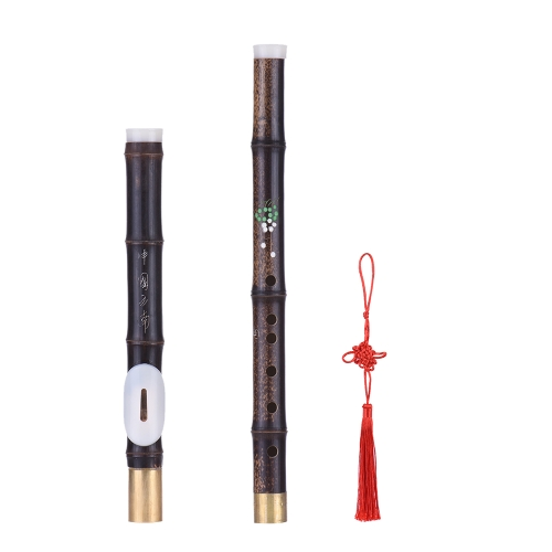 Detchable Natural Black Bamboo Bawu Ba Wu Transverse Flute Pipe Musical Instrument in G Key for Beginner Music Lovers as GiftFlutes &amp; Piccolos &amp; Accessories<br>Detchable Natural Black Bamboo Bawu Ba Wu Transverse Flute Pipe Musical Instrument in G Key for Beginner Music Lovers as Gift<br><br>Blade Length: 44.0cm