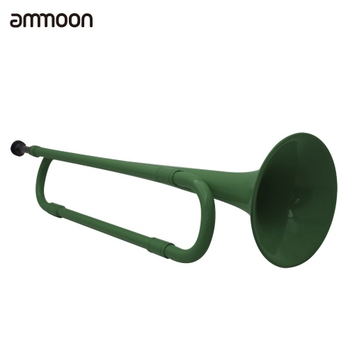 ammoon B Flat Bugle Cavalry Trumpet Environmentally Friendly Plastic with Mouthpiece for Band School StudentTrumpets &amp; Accessories<br>ammoon B Flat Bugle Cavalry Trumpet Environmentally Friendly Plastic with Mouthpiece for Band School Student<br><br>Blade Length: 45.0cm