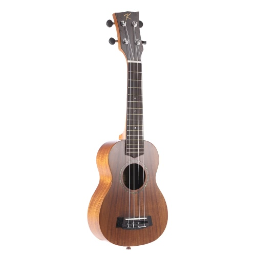"""KAKA KUS-70 21"""" Solid Koa Top Side Ukulele 4 Strings Green Shell Inlay Rosewood Fretboard with Gig Bag Musical Instrument Gift Present от tomtop.com INT"""