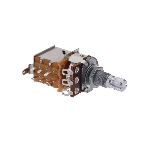 Electric Guitar Audio Tone Switch Control Taper Potentiometer Split Shaft Pots A500K I1132