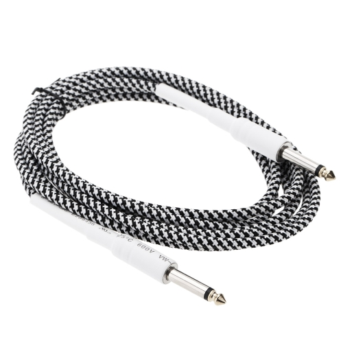 16ft / 5m 6.35mm Mono Male to 6.35mm Mono Male Cable Wire Cord for Guitar Bass Instrument от tomtop.com INT