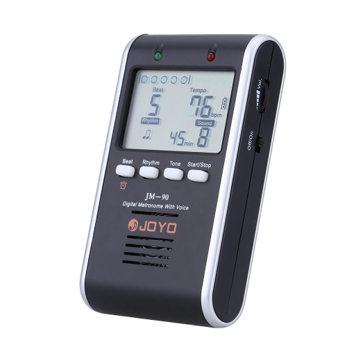 JOYO JM-90 Universal Rechargeable Electronic Digital Metronome Tone Generator Tuner with LCD for Guitar Violin Ukulele Beat Tempo Practice Training I1366