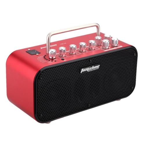 Aroma TM-10 10W Electric Guitar Amp Amplifier Loudspeaker Speaker Built-in Tuner Tap Function Effect Volume Tone Control I808R