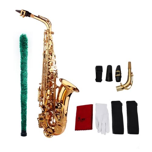 Buy Saxophone Sax Eb E Flat Brass Carved Pattern Surface Plastic Mouthpiece Exquisite Gloves Cleaning Cloth Brush Straps