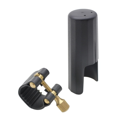 Leather Ligature Fastener with Plastic Cap for Tenor Sax Saxphone Bakelite Mouthpiece от tomtop.com INT