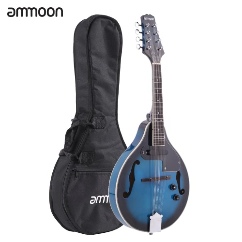ammoon A-Style Electric Mandolin Basswood Body Rosewood Bridge Fingerboard 8 Strings with EQ Gig Bag от tomtop.com INT