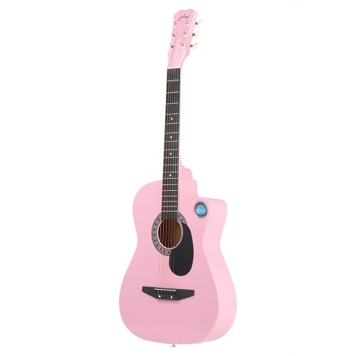 38 6-String Folk Acoustic Guitar for Beginners Music Lovers Students GiftGuitars<br>38 6-String Folk Acoustic Guitar for Beginners Music Lovers Students Gift<br><br>Blade Length: 100.0cm