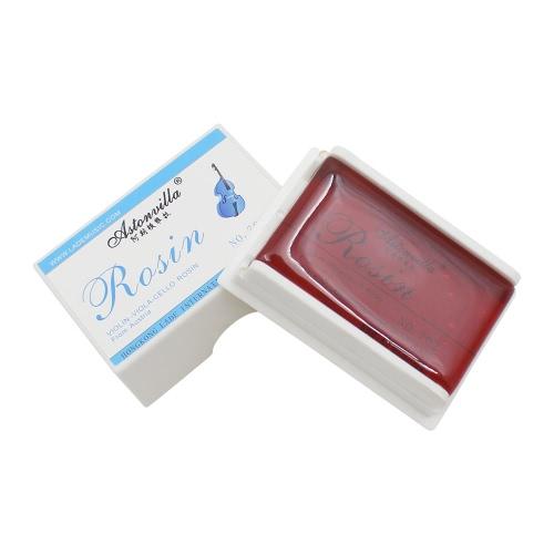 High Quality Red Rosin Transparent Low Dust Universal for Bowed String Instruments Violin Viola Cello Erhu