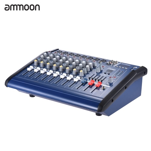 ammoon 8 Channels Powered Mixer Amplifier Digital Audio Mixing Console Amp with 48V Phantom Power USB/ SD Slot for Recording DJ Stage Karaokeammoon 8 Channels Powered Mixer Amplifier Digital Audio Mixing Console Amp with 48V Phantom Power USB/ SD Slot for Recording DJ Stage Karaoke<br><br>Blade Length: 46.0cm