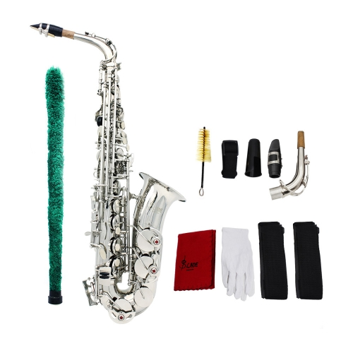 Buy Saxophone Sax Eb Alto E Flat Brass Carved Pattern Surface Plastic Mouthpiece Exquisite Gloves Cleaning Cloth Brush Straps
