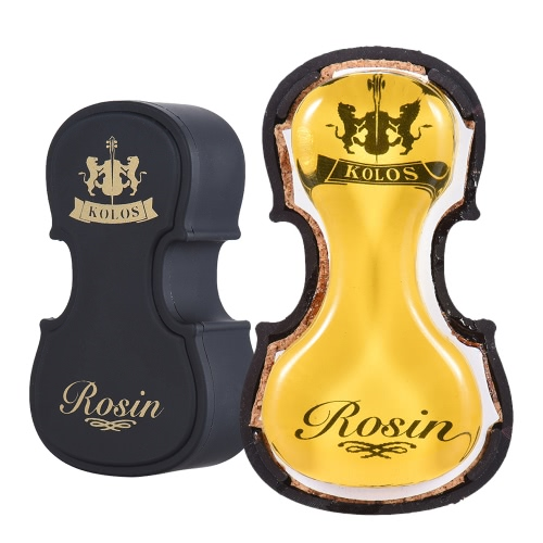 High-Class Transparent Red Rosin Colophony Low Dust Handmade with Violin-shape Plastic Box Universal for Bowed String Musical Instruments Violin Viola Cello Erhu