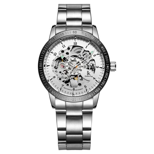 IK COLOURING Daily Water Resistant Stainless Steel Strap Automatic Mechanical Watch Skeleton Transparent Hollow WristwatchMechanical Watch<br>IK COLOURING Daily Water Resistant Stainless Steel Strap Automatic Mechanical Watch Skeleton Transparent Hollow Wristwatch<br><br>Blade Length: 8.6cm
