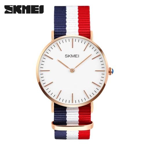 Buy SKMEI Brand Fashion Men Women Quartz Wristwatch Ultra Thin Student Casual Man's Watch 3ATM Water-resistant